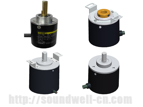 Metal shaft magnetic incremental encoder