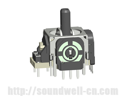 RJ13 Plastic handle rocker potentiometer