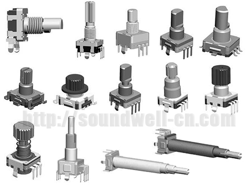 EC11 Metal shaft incremental encoder