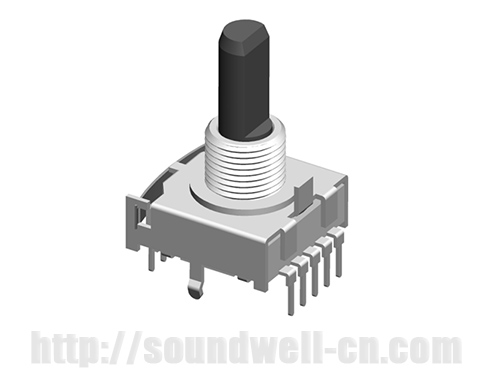 RS17 Metal shaft rotary multi-way switch