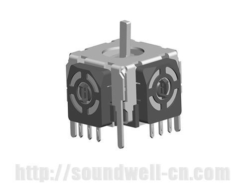 RJ16 Metal handle rocker potentiometer