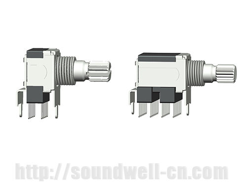 RS12/22 Metal shaft rotary multi-way switch