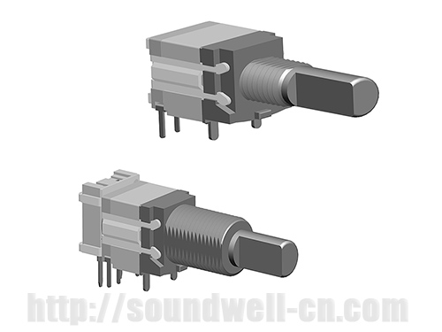 RS1002 Metal shaft rotary pulse switch