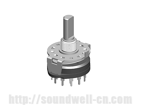 RS24 Metal shaft rotary multi-way switch