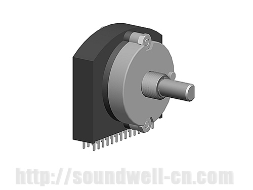 RE30 Metal shaft rotary multi-way switch