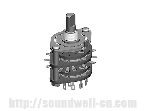 RS29 Metal shaft rotary multi-way switch