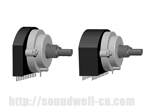 RE29 Metal shaft rotary multi-way switch