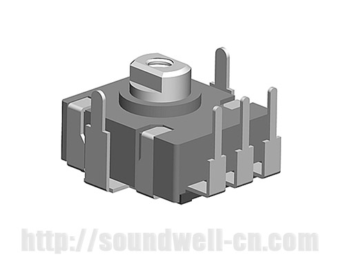 RA13 Metal shaft rotary potentiometer