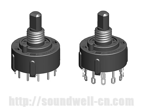 RS26 Plastic shaft rotary multi-way switch